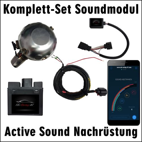 SOUNDMODUL - SKODA - COMPLETE-SET - retrofit with APP and Misfire